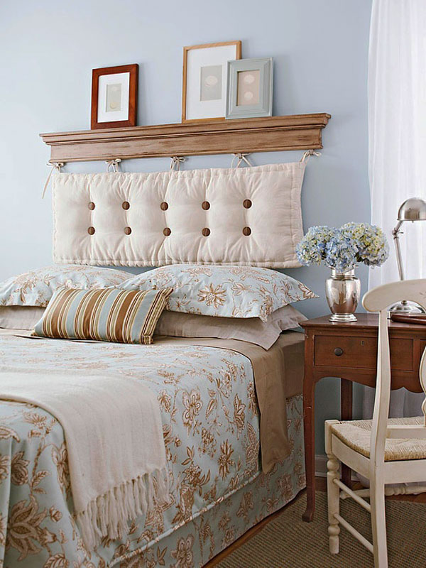 Otros 12 1 cabeceros de cama diy low cost para renovar - Como decorar cabeceros de cama ...