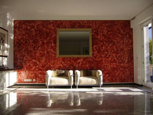 C mo conseguir el efecto estuco en las paredes de tu casa - Color piedra pintura pared ...