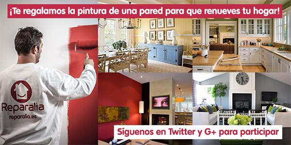 Reparalia te regala la pintura de una pared de tu hogar en su nuevo concurso de primavera, Síguenos en Twitter y G+ para participar!
