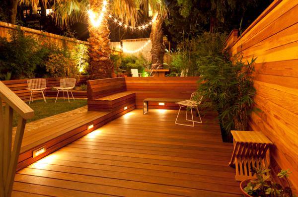 Las 4 claves para iluminar tu patio o jard n en las noches for Lumiere terrasse exterieure