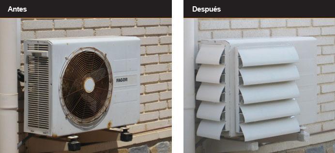 10 ideas geniales para esconder tu aire acondicionado un for Caja aire acondicionado