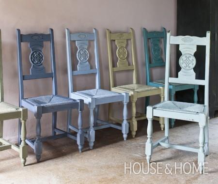 Pintura un hogar con mucho oficio - Pintura ala tiza para muebles ...