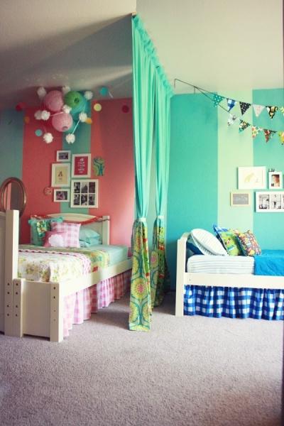 18 ideas para habitaciones compartidas por ni os un - Habitaciones para ninos de dos anos ...
