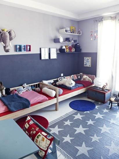 18 ideas para habitaciones compartidas por ni os un - Habitacion para 3 hermanos ...