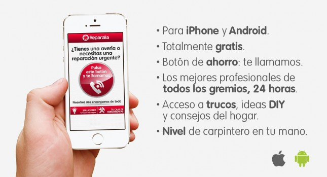 App gratis iPhone Android Reparalia