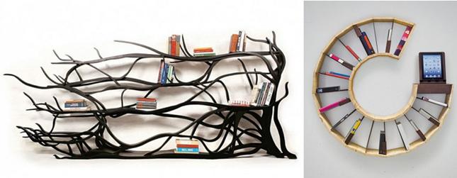 Las 20 librer as m s creativas y originales para tu hogar for Articulos originales para el hogar