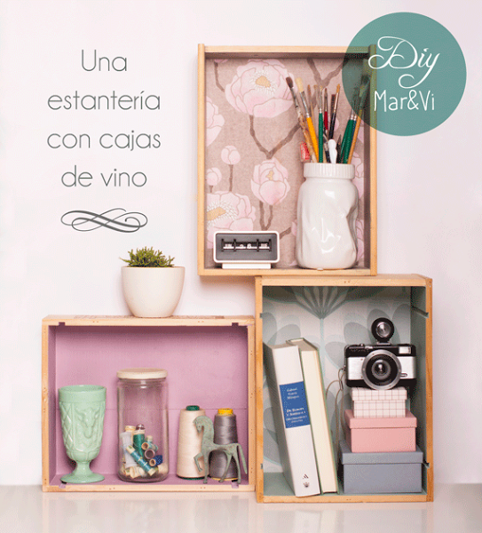 5 ideas para reciclar esas cajas de vino despu s de las for Decoracion con muchos cuadros