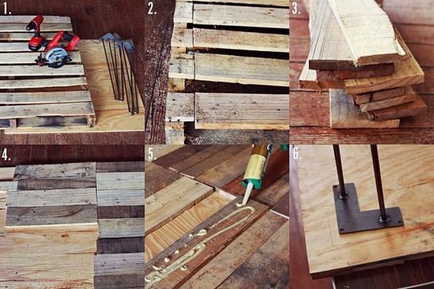 Mesa diy con palets reciclados a lo tetris un hogar - Ideas para reciclar unos palets ...