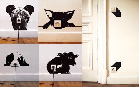 Inspiraci n pegatinas el ctricas para decorar tus for Laminas gigantes para pared