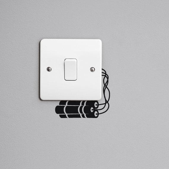 Inspiraci n pegatinas el ctricas para decorar tus - Enchufes e interruptores ...