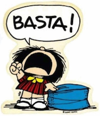Mafalda enfadada