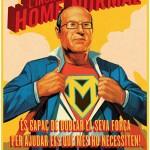 Montilla, visto como superhéroe
