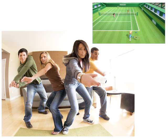 Jugando Wii
