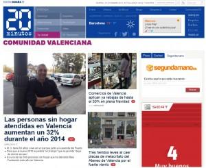 Subportada de 20minutos Comunidad Valenciana