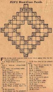 """¿Cuál es el origen de los """"crucigramas""""?"""