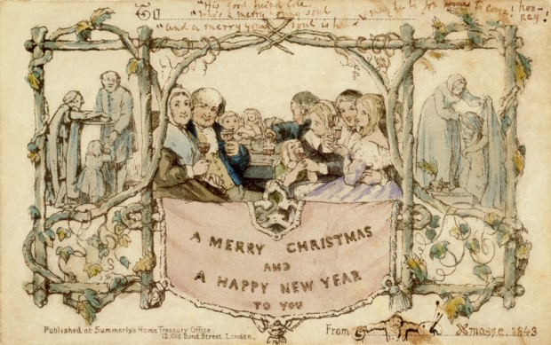 ¿Cuál es el origen de las tarjetas navideñas?