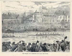 ¿Cuál es el origen de la regata anual entre Oxford y Cambridge?
