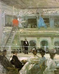 """Reproducción del cuadro """"Hammerstein's Roof Garden"""", pintado por William Glackens"""