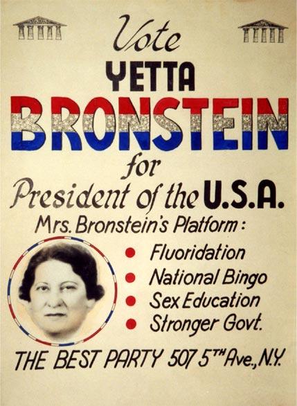 Yetta Bronstein, la candidata a la Casa Blanca que jamás existió