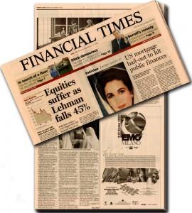 ¿Por qué los periódicos de información económica suelen ser de color salmón?