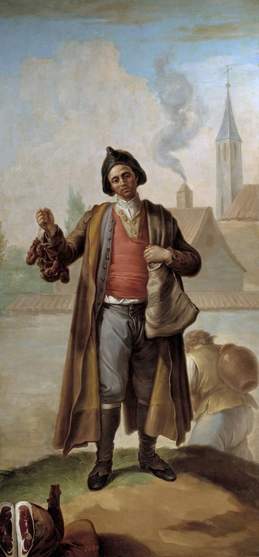 Carlos IV y el vendedor de chorizos [Anécdota]- El choricero de Ramón Bayeu