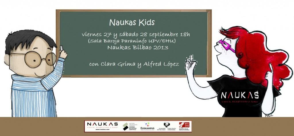 Naukas Kids con Alfred López y Clara Grima