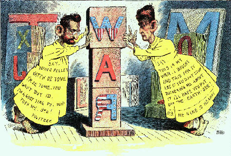 ¿Cuál es el origen de la expresión 'prensa amarilla'? (de Joseph Pulitzer y William Randolph Hearst)