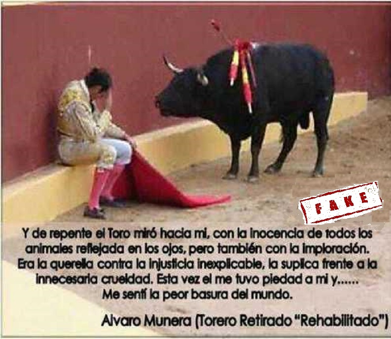 El fake de la foto de un arrepentimiento torero que se convirtió en viral - Álvaro Munera