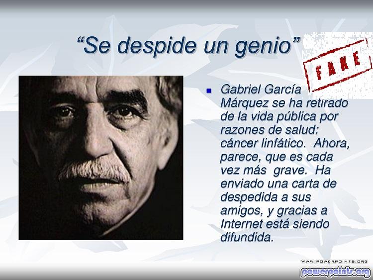 exto despedida Gabriel García Márquez - (fake)