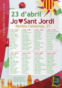 Firma de ejemplares de 'Ya está el listo que todo lo sabe' en Sant Jordi 2014