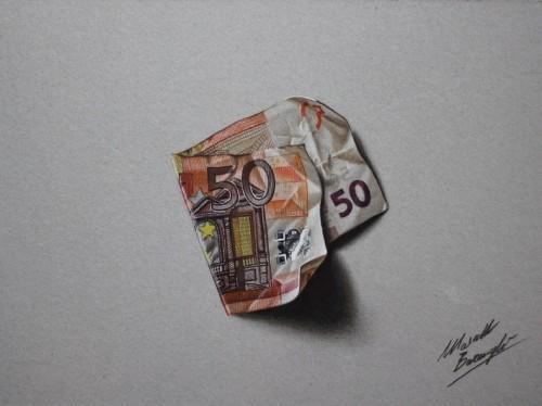 El hiperrealismo en los dibujos de Marcello Barenghi