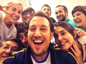 Selfie de David Sierra y el equipo de Esto me suena