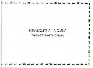 Los mejores libros para regalar (y porque no, autorregalarse) - Formigues a la cuina de Joan Camises e ilustrado por Marta Contreras