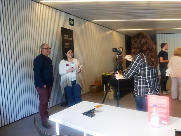 Alfred López entrevistado por estudiantes de periodismo del Máster BCN_NY de la UB