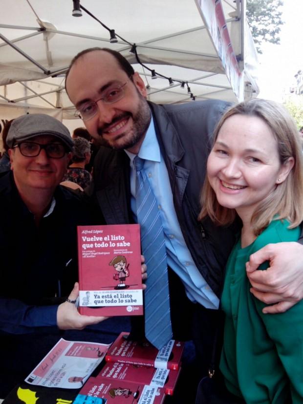 Alfred López junto a Luis y Silvia
