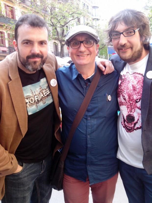 Alfred López y los autores de Yo fui a EGB