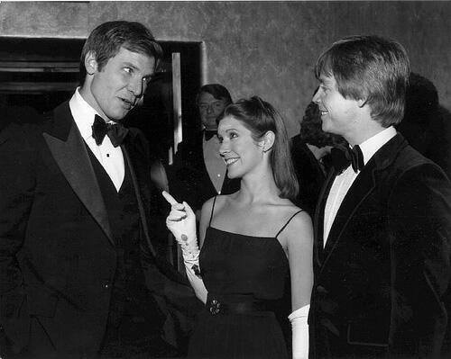Harrison Ford, Carrie Fisher y Mark Hamill (Star Wars)